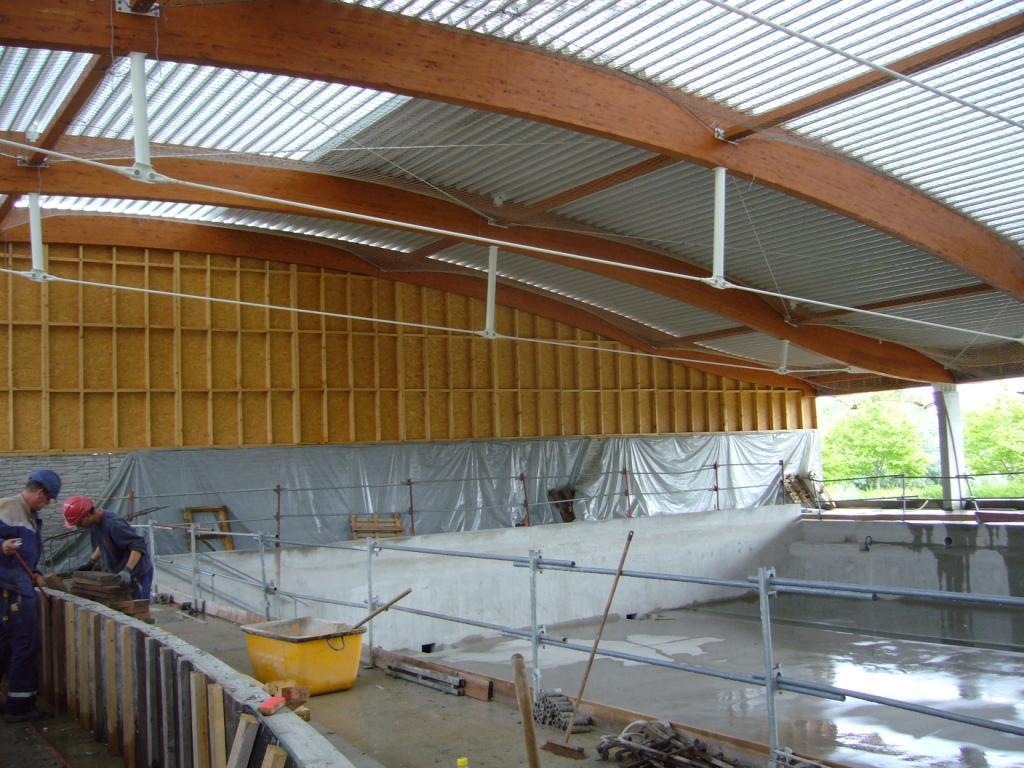 Bureau tudes bois charpente lamell coll murs ossature bois - Abri piscine bois lamelle colle ...