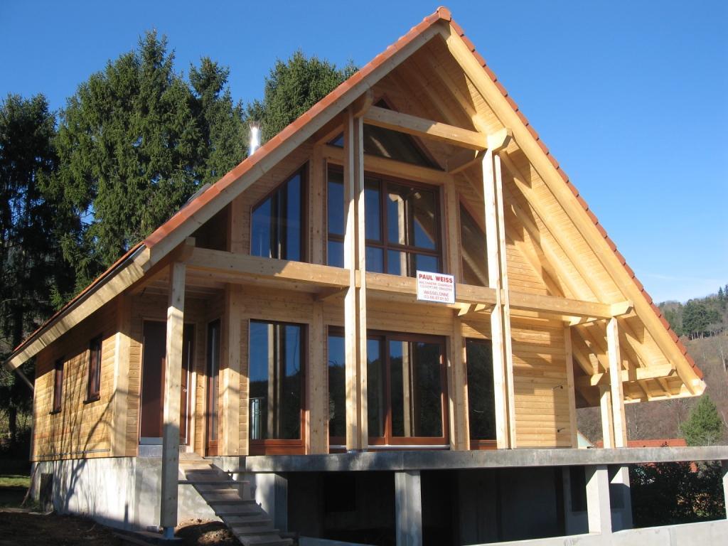 Construction chalet bois alsace for Construction chalet