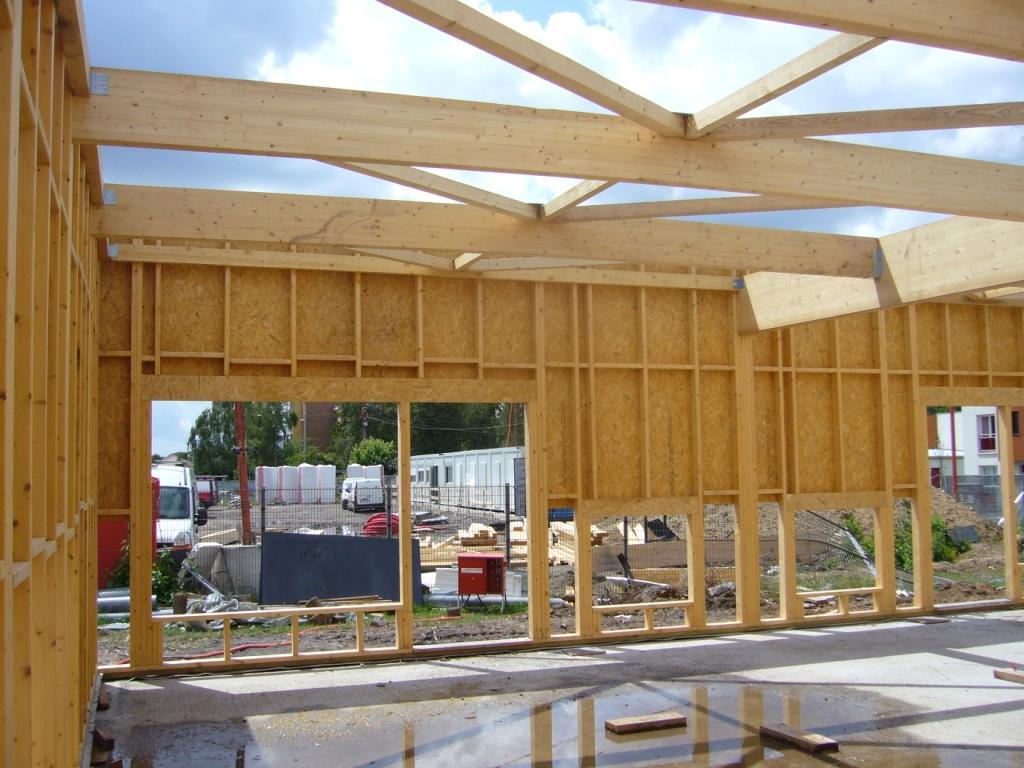 Bureau ossature bois bureau ossature bois dunkerque my for Extension bois 15m2